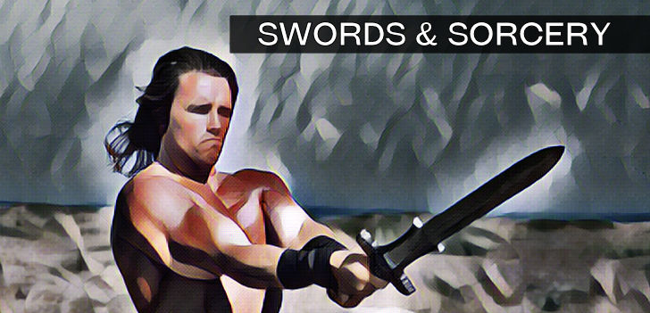 Conan Swinging His Sword